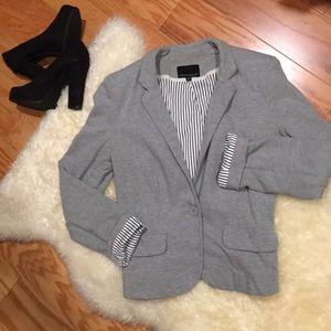 CYNTHIA ROWLEY 100% Cotton Jersey Style Blazer M
